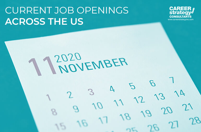 Current Job Openings Across the US for November 2020